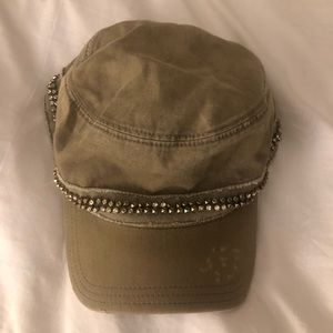 Juicy Couture Newsboy Army Green Hat